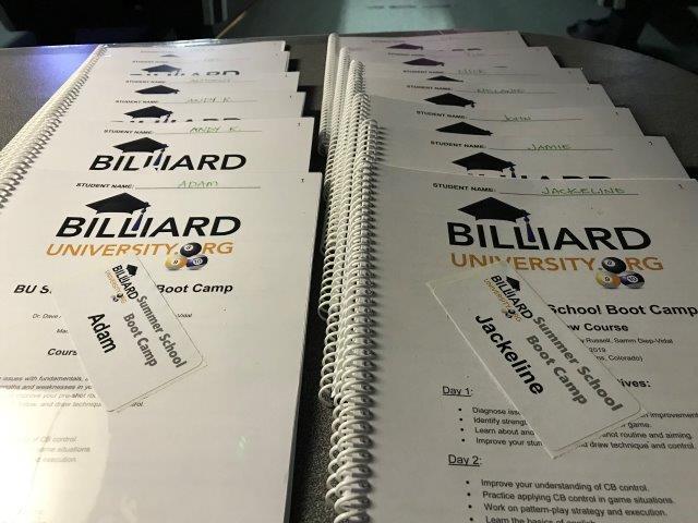 Summer School Boot Camps - Billiard University (BU)